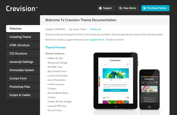 Crevision - Responsive HTML Template Download