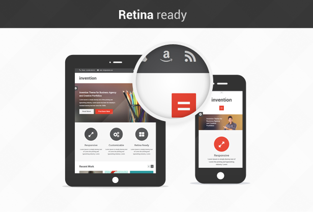 Invention - Responsive HTML5 Template - 6