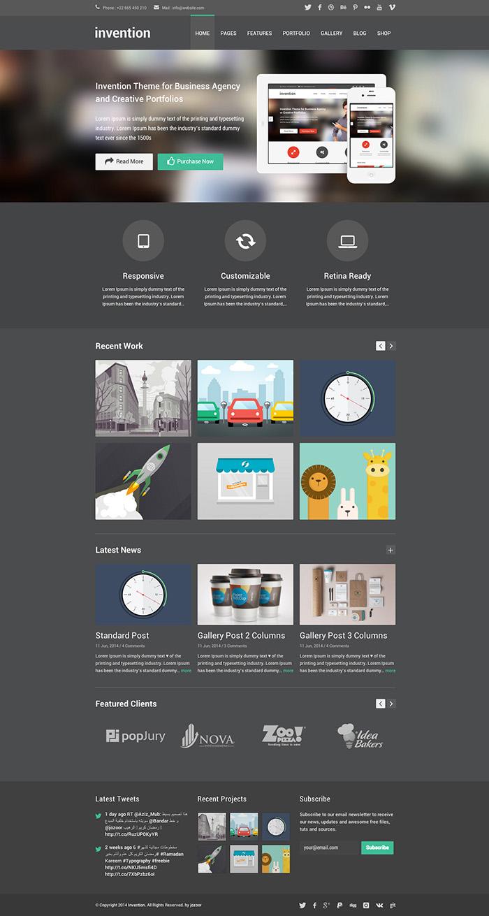 Invention – Responsive Multi-Purpose WordPress Theme